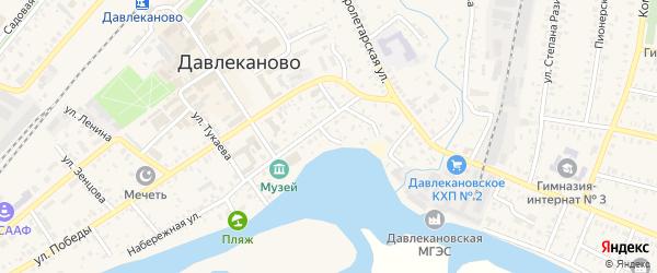 Народный переулок на карте Давлеканово с номерами домов