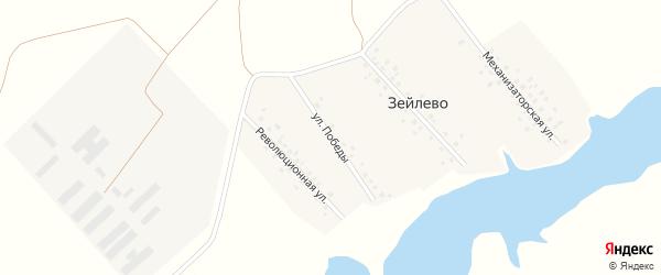 Улица Победы на карте деревни Зейлево с номерами домов
