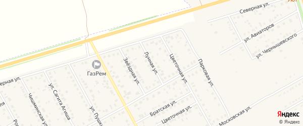 Лунная улица на карте Давлеканово с номерами домов