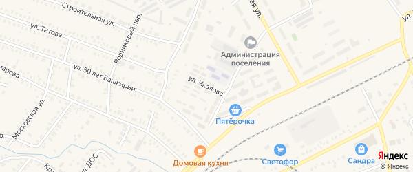 Улица Чкалова на карте Давлеканово с номерами домов