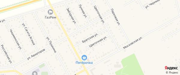 Братская улица на карте Давлеканово с номерами домов