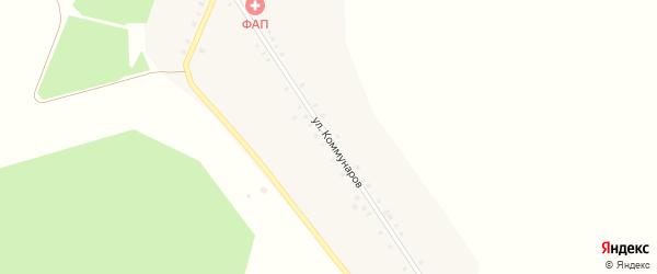 Улица Коммунаров на карте деревни Саитово с номерами домов
