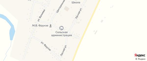 Лесная улица на карте села Бакаево с номерами домов