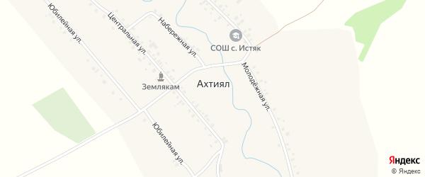 Набережная улица на карте деревни Ахтияла с номерами домов