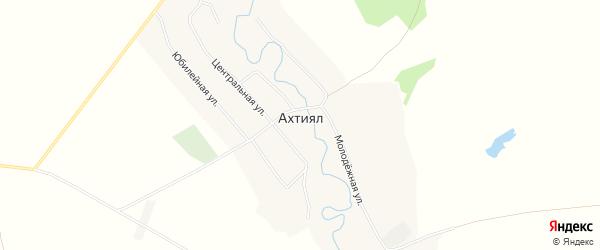 Карта деревни Ахтияла в Башкортостане с улицами и номерами домов