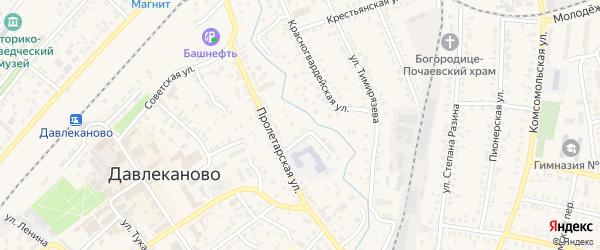 Камская улица на карте Давлеканово с номерами домов
