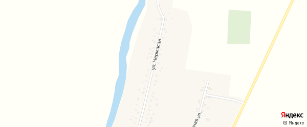 Улица Чермасан на карте села Бакаево с номерами домов