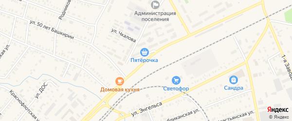 Улица Карла Маркса на карте Давлеканово с номерами домов