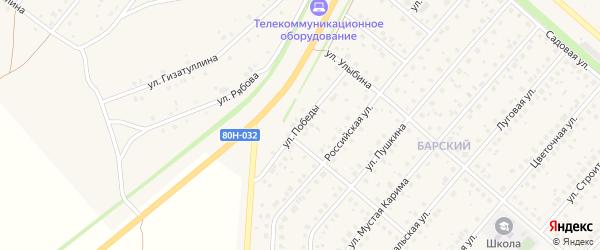 Улица Победы на карте села Краснохолмского с номерами домов