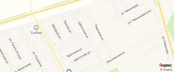 Цветочная улица на карте Давлеканово с номерами домов