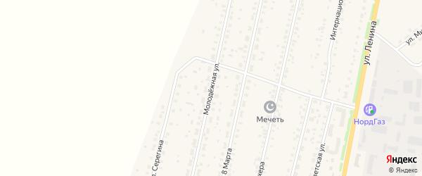 Молодежная улица на карте села Краснохолмского с номерами домов