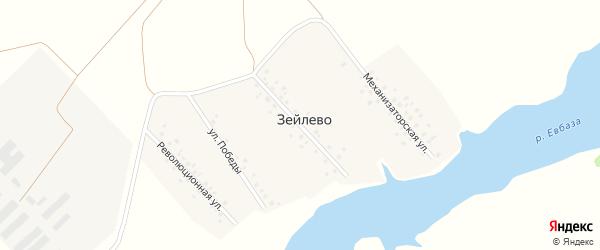 Социалистическая улица на карте деревни Зейлево с номерами домов
