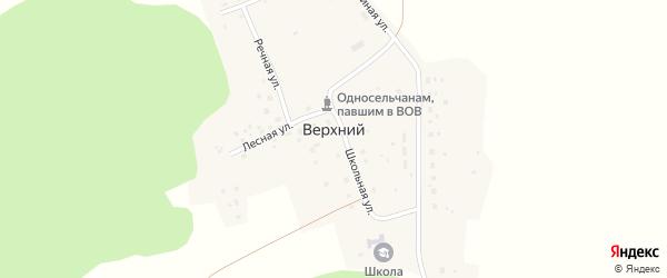 Школьная улица на карте Верхнего хутора с номерами домов