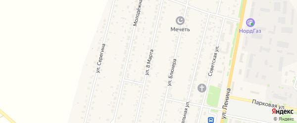 Улица 8 Марта на карте села Краснохолмского с номерами домов