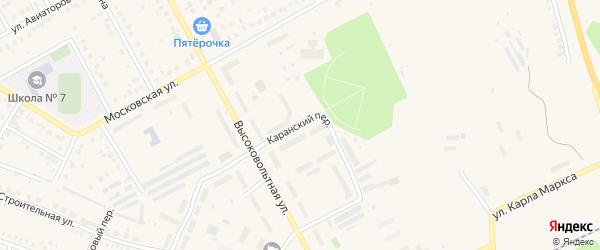 Каранская улица на карте Давлеканово с номерами домов