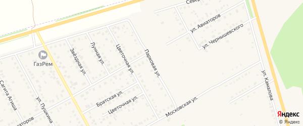 Парковая улица на карте Давлеканово с номерами домов