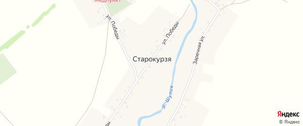 Улица Победы на карте деревни Старокурзя с номерами домов