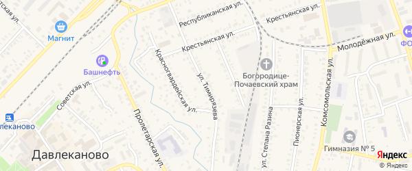 Улица Тимирязева на карте Давлеканово с номерами домов