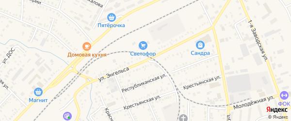Улица Энгельса на карте Давлеканово с номерами домов