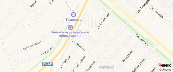 Улица Сюткина на карте села Краснохолмского с номерами домов