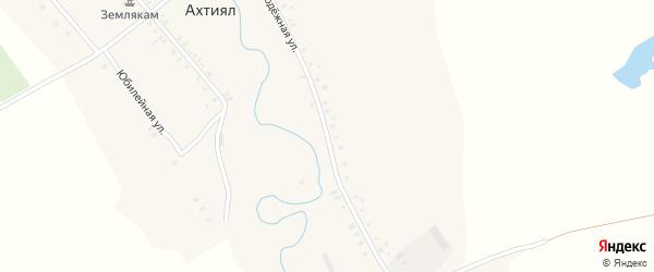 Молодежная улица на карте деревни Ахтияла с номерами домов