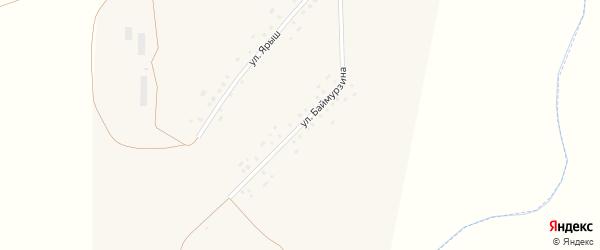 Улица А.Баймурзина на карте села Староихсаново с номерами домов