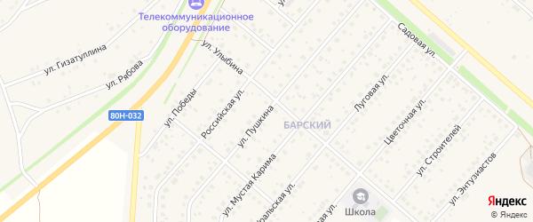 Улица Пушкина на карте села Краснохолмского с номерами домов