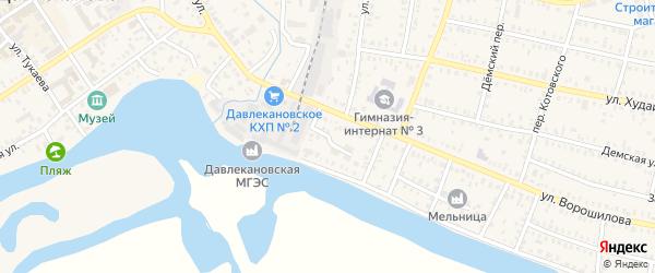 Колхозный переулок на карте Давлеканово с номерами домов