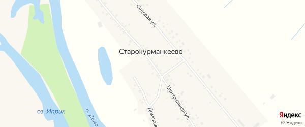 Центральная улица на карте села Старокурманкеево с номерами домов