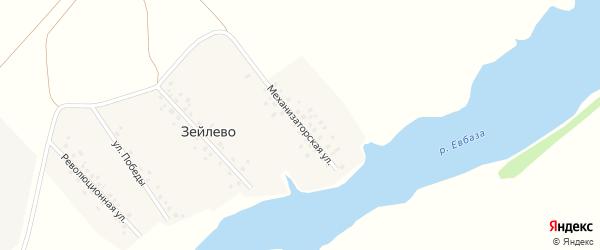 Механизаторская улица на карте деревни Зейлево с номерами домов