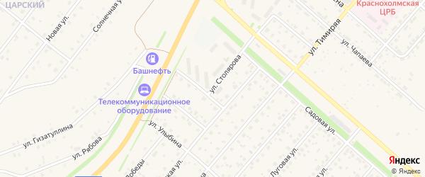 Улица Столярова на карте села Краснохолмского с номерами домов