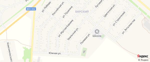 Уральская улица на карте села Краснохолмского с номерами домов