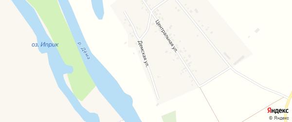 Демская улица на карте села Старокурманкеево с номерами домов