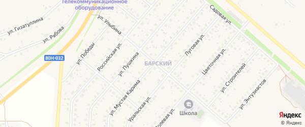 Улица Мустая Карима на карте села Краснохолмского с номерами домов