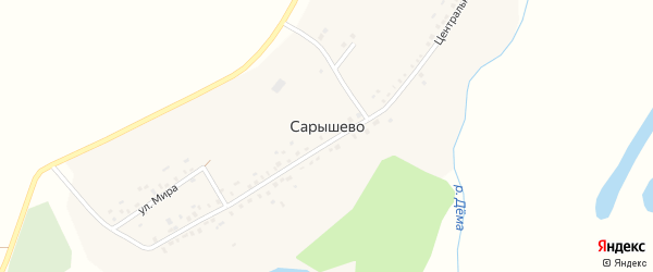 Молодежная улица на карте деревни Сарышево с номерами домов