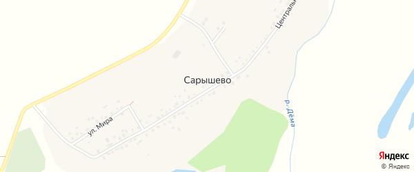 Центральная улица на карте деревни Сарышево с номерами домов
