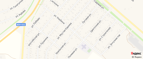 Улица Улыбина на карте села Краснохолмского с номерами домов