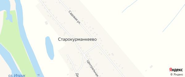 Садовая улица на карте села Старокурманкеево с номерами домов