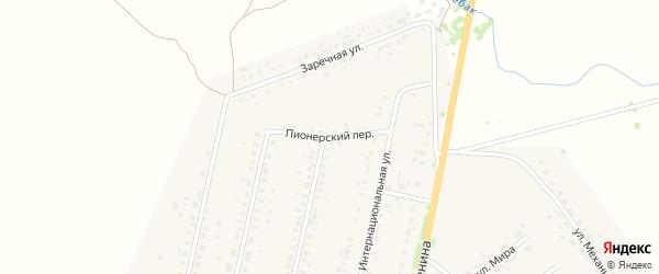 Пионерский переулок на карте села Краснохолмского с номерами домов