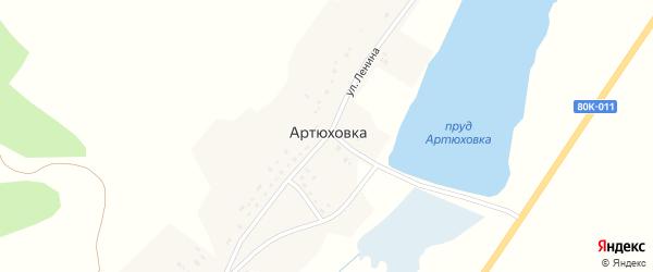 Улица Ленина на карте деревни Артюховки с номерами домов