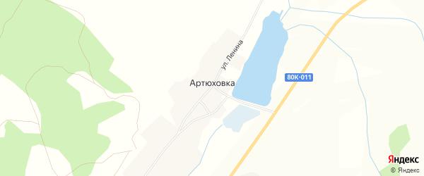 Карта деревни Артюховки в Башкортостане с улицами и номерами домов