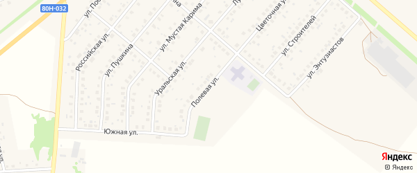 Полевая улица на карте села Краснохолмского с номерами домов