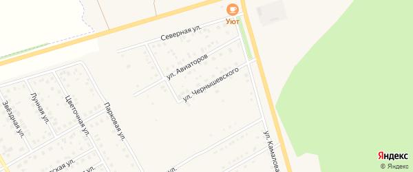 Улица Чернышевского на карте Давлеканово с номерами домов