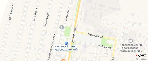 Улица Ленина на карте села Краснохолмского с номерами домов