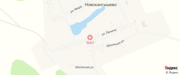 Улица Ленина на карте села Новокангышево с номерами домов
