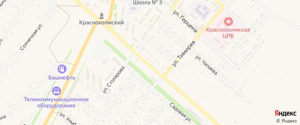 Улица Нефтяников на карте села Краснохолмского с номерами домов