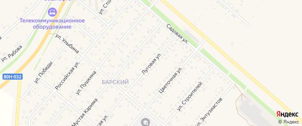 Луговая улица на карте села Краснохолмского с номерами домов