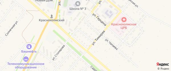 Дорожная улица на карте села Краснохолмского с номерами домов