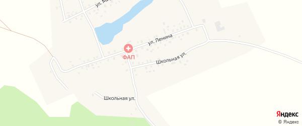 Школьная улица на карте села Новокангышево с номерами домов