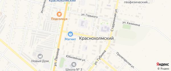 Улица Фрунзе на карте села Краснохолмского с номерами домов